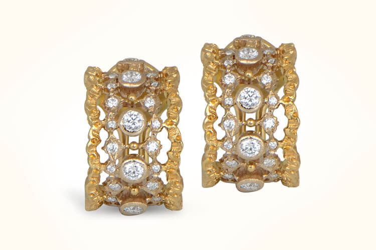 Vintage Buccellati Diamond Earrings