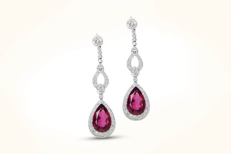 Rubelite Earrings