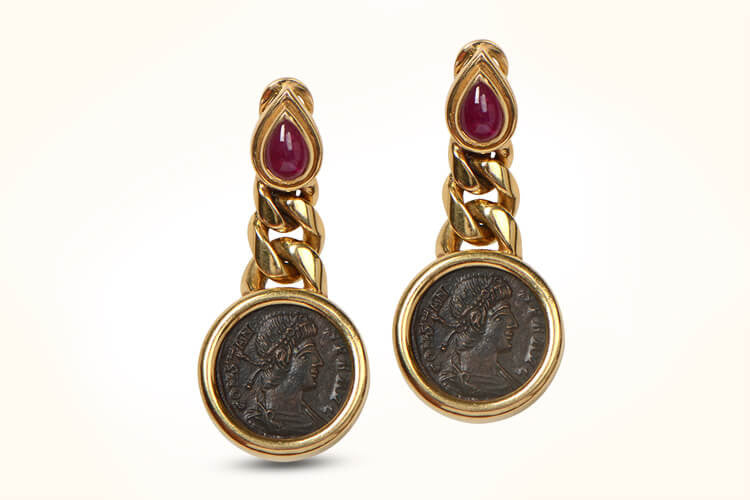 Bulgari Coin Earrings