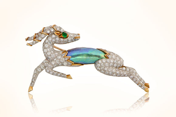 David Webb Gazelle Brooch