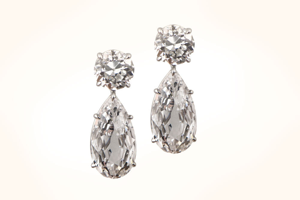 Pear-Shape Diamond Earrings