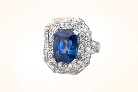 Non Heated Sapphire Ring