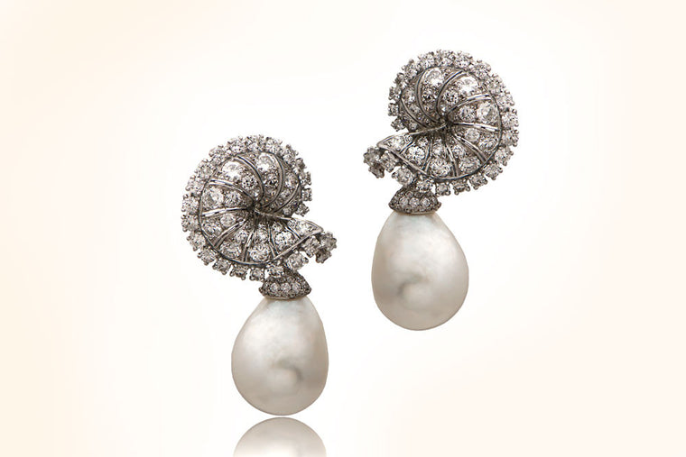 Chaumet Natural Pearl Earrings