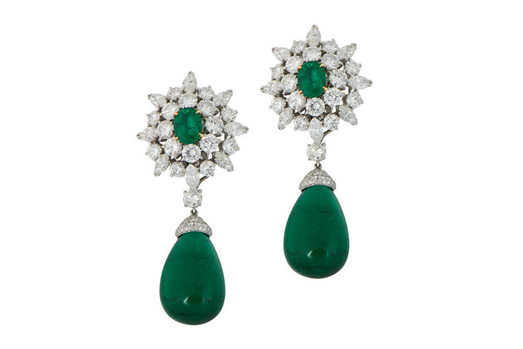 VCA Emerald Drop Earrings.