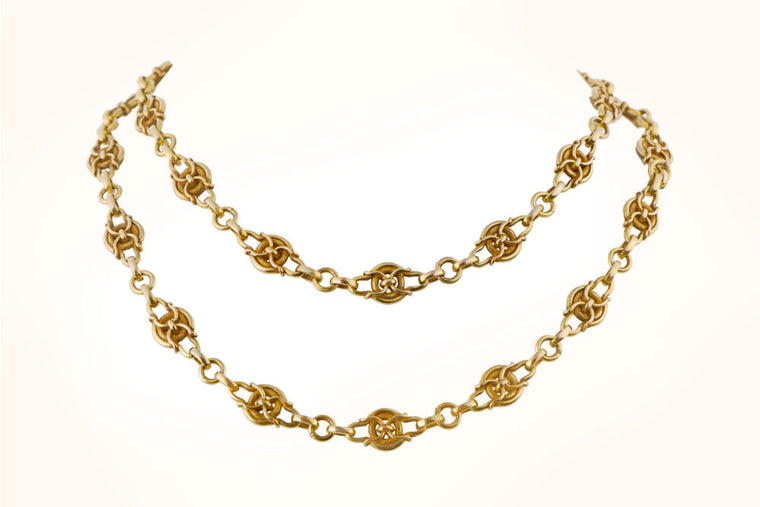 Antique Art Nouveau Gold Chain