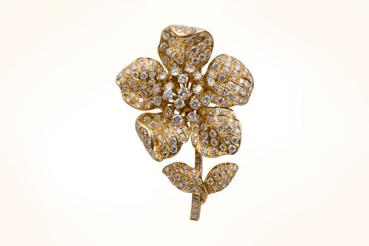 Tiffany Flower Brooch