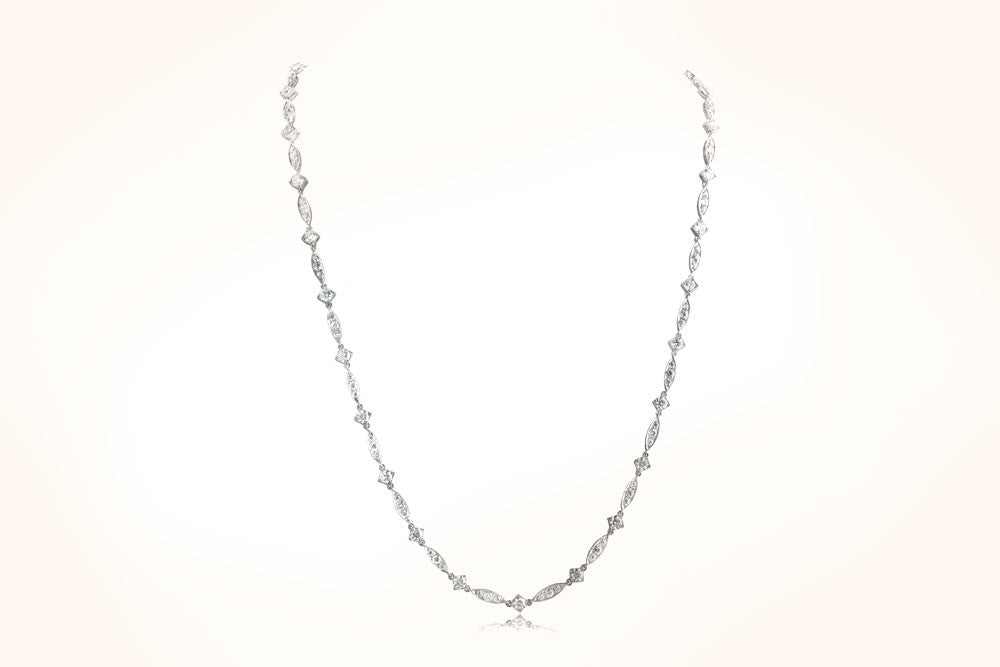 Platinum & Diamond Art Deco Style Necklace
