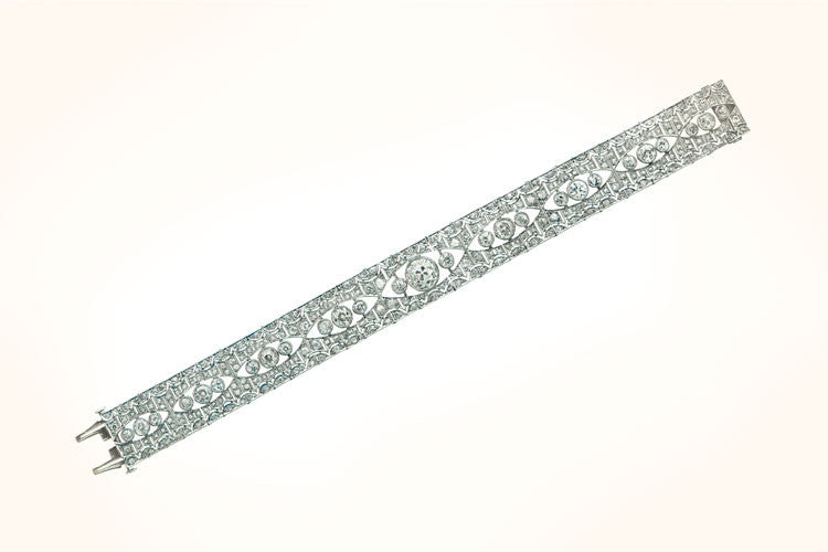 Antique Deco Diamond Bracelet