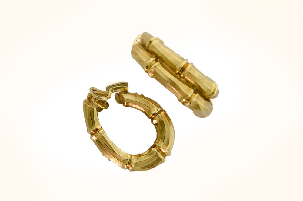 Cartier Gold Bamboo Earrings