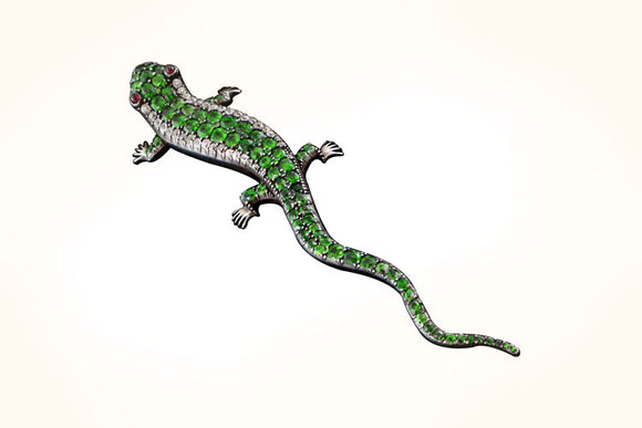 Lizard Brooch