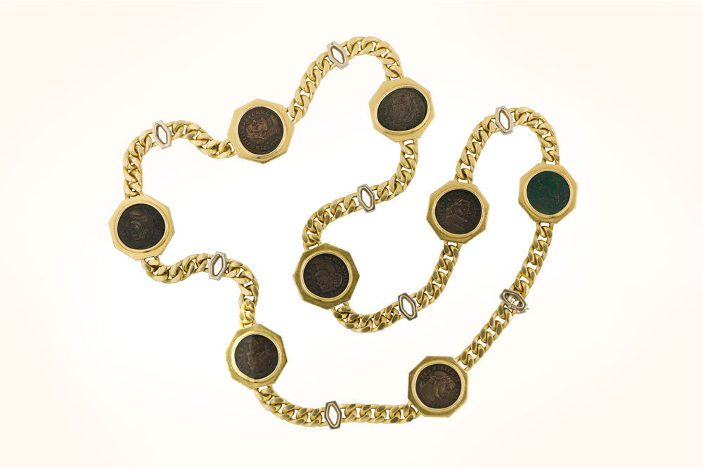 Bulgari Coin Necklace
