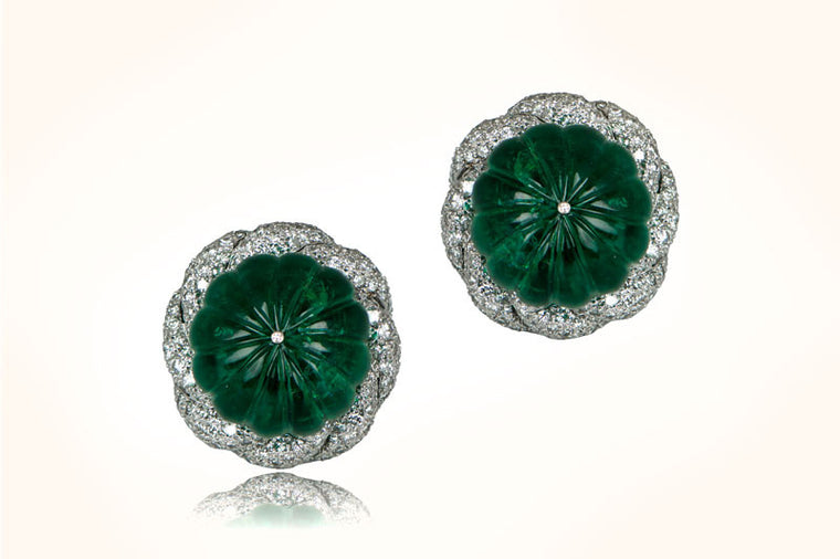 Emerald Turban Earrings