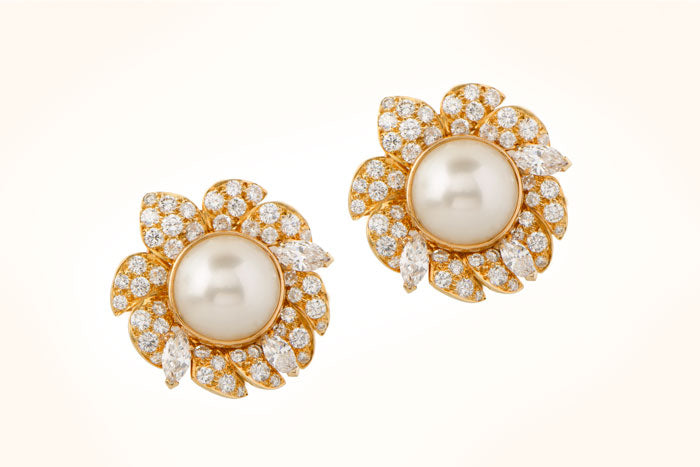 VCA Natural Pearl Earrings