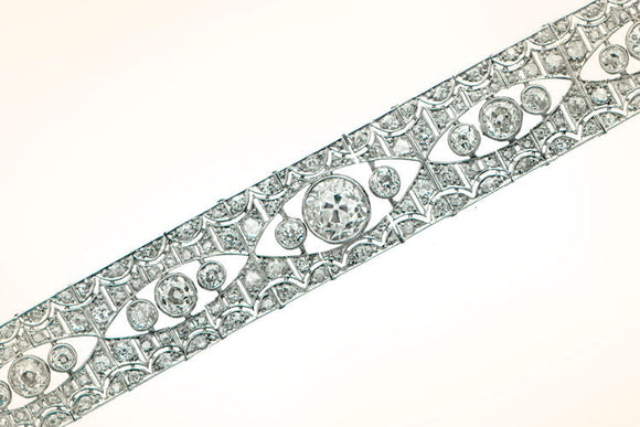 Antique Deco Diamond Bracelet. Circa 1920