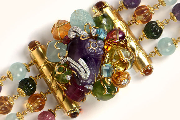 Seaman Schepps Multi Colored Gem Bracelet