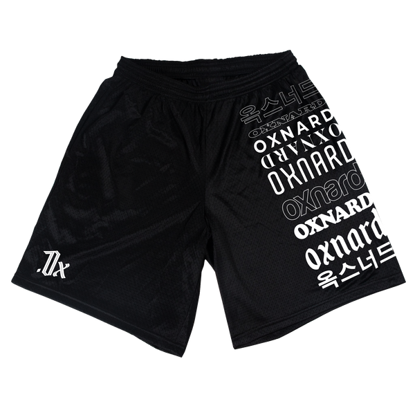 Oxnard Black Mesh Shorts