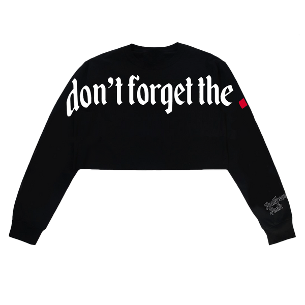Don't Forget The Dot Cropped Sweatshirt
