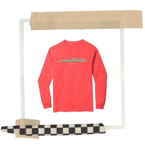 Ventura Neon Red Orange Long Sleeve + Digital Album