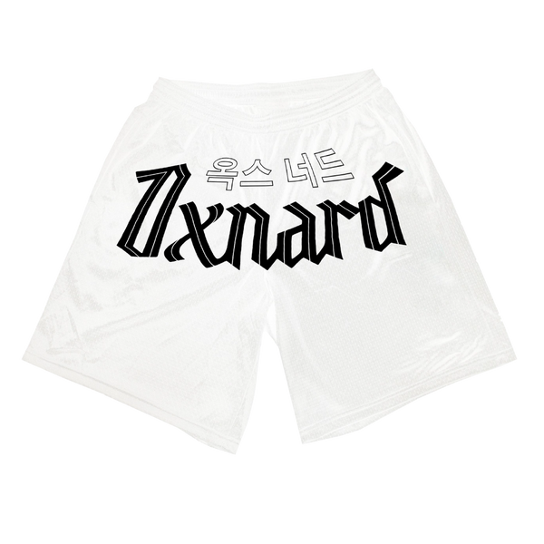 Oxnard White Mesh Shorts