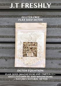 COLON CLEANSE - GROUND FLAXSEED AND GLUTEN FREE OATS DETOX PORRIDGE PROGRAMME