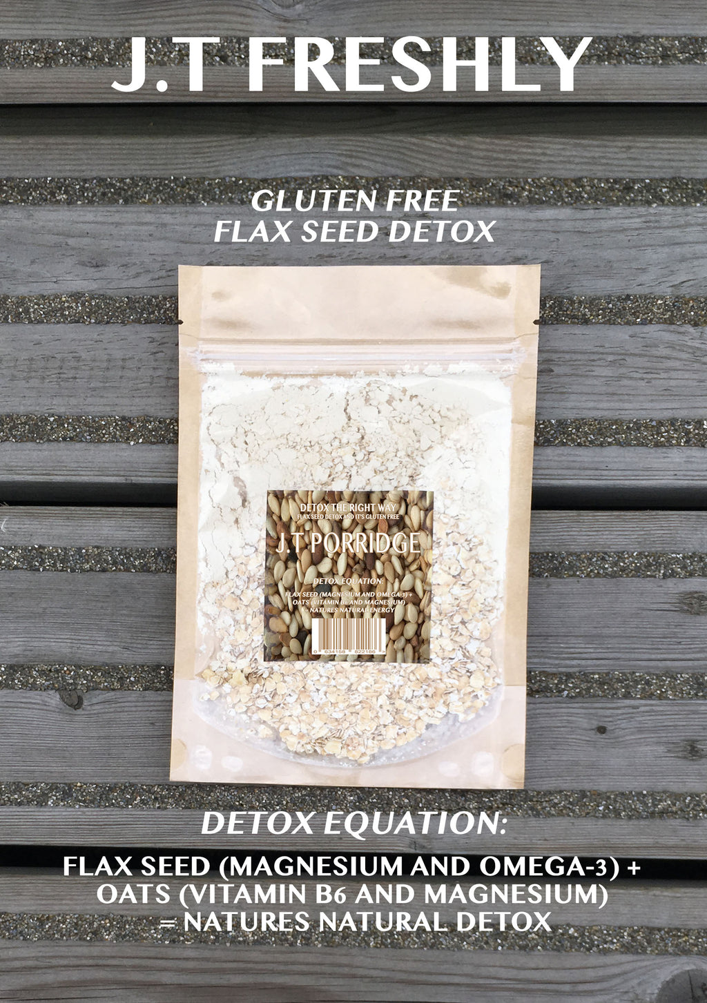 COLON CLEANSE - GROUND FLAXSEED AND GLUTEN FREE OATS DETOX PORRIDGE PROGRAMME (12 PACKS RRP £2.00/UNIT)