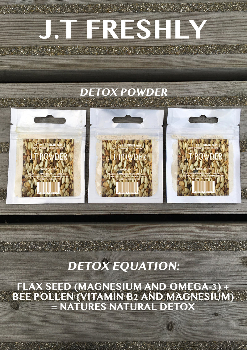 COLON CLEANSE - GROUND FLAXSEED AND GROUND BEE POLLEN DETOX POWDER PROGRAMME (12 PACKS RRP £1.20/UNIT)