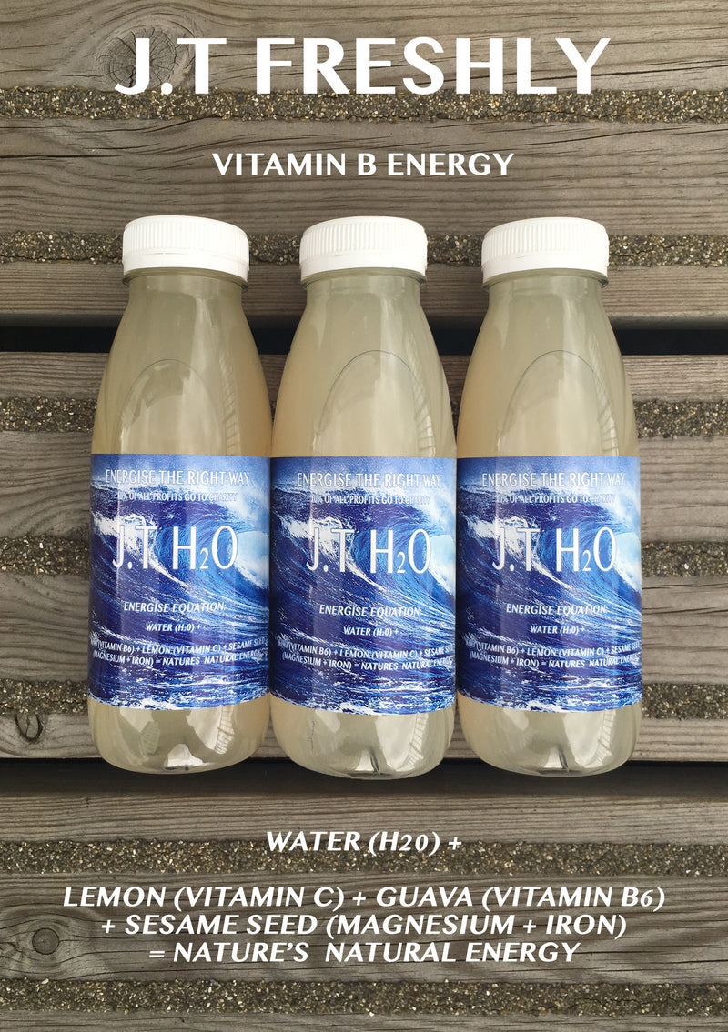 VITAMIN B ENERGY BOOST - LEMON, GUAVA AND GROUND SESAME SEED ENERGY WATER PROGRAMME