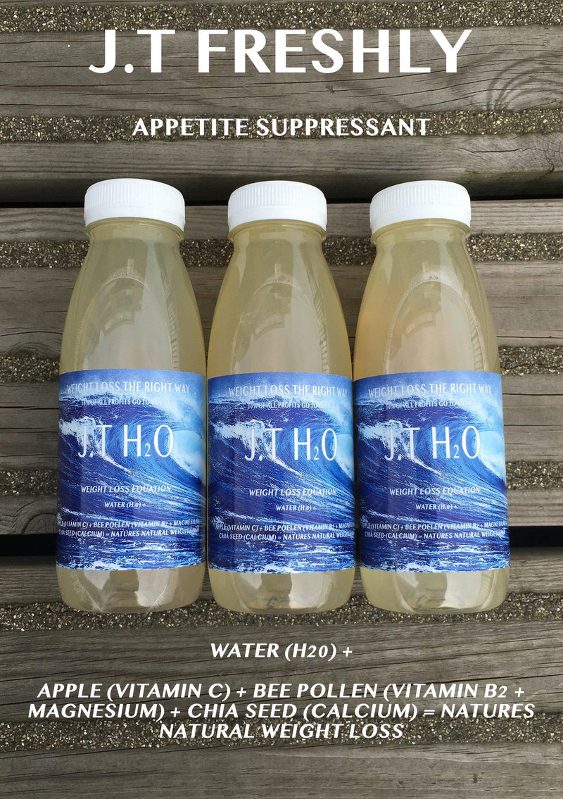 APPETITE SUPPRESSANT - APPLE, GROUND CHIA SEED AND GROUND BEE POLLEN WEIGHT LOSS WATER PROGRAMME-J.T Freshly