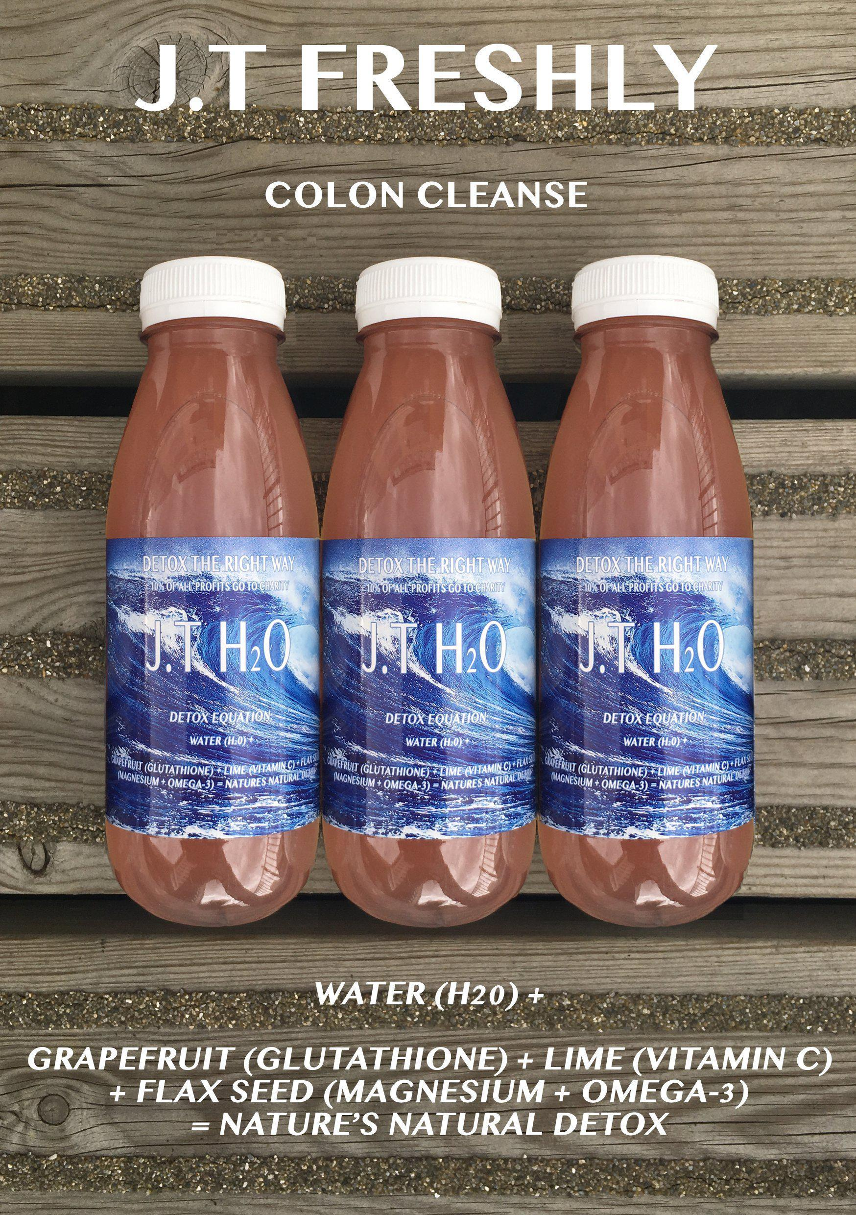 COLON CLEANSE - GRAPEFRUIT, LIME AND GROUND FLAXSEED DETOX WATER PROGRAMME-J.T Freshly