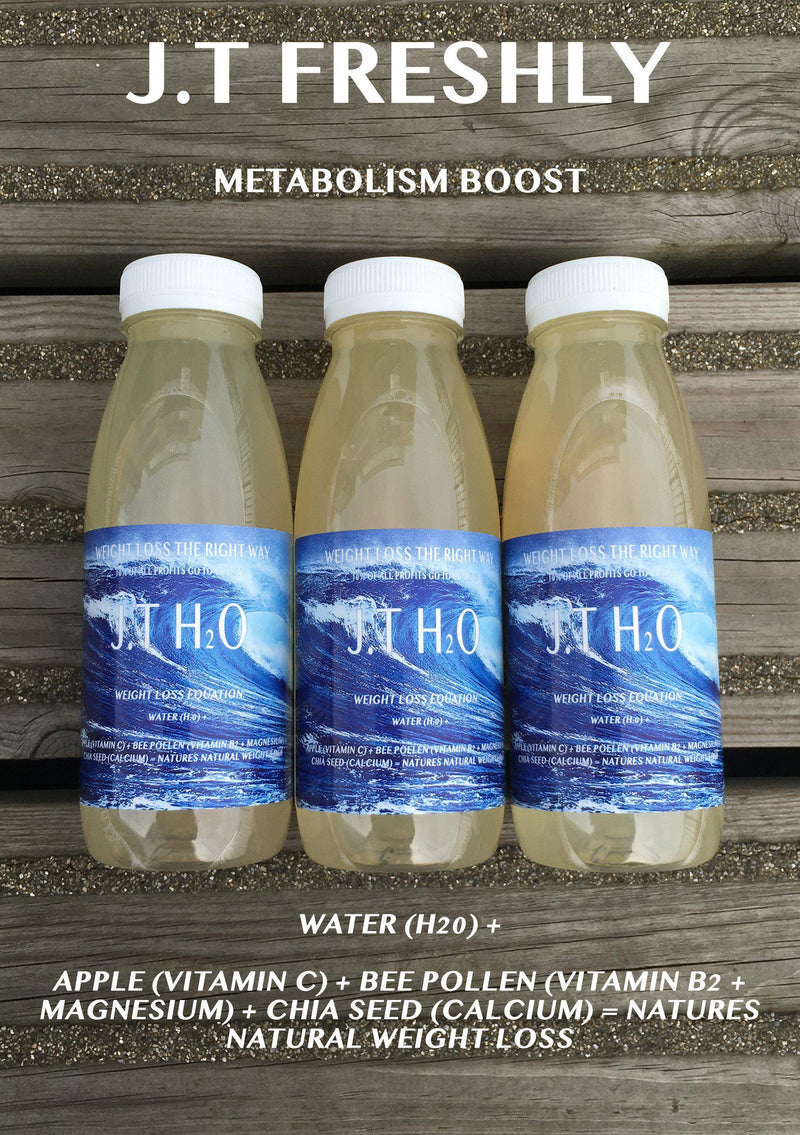 METABOLISM BOOST - APPLE, GROUND CHIA SEED AND GROUND BEE POLLEN WEIGHT LOSS WATER PROGRAMME-J.T Freshly