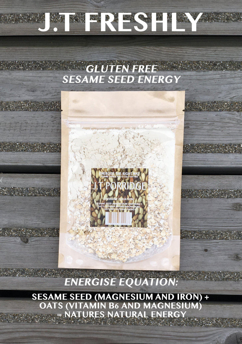 VITAMIN B ENERGY BOOST - GROUND SESAME SEED AND GLUTEN FREE OATS ENERGY PORRIDGE PROGRAMME-J.T Freshly