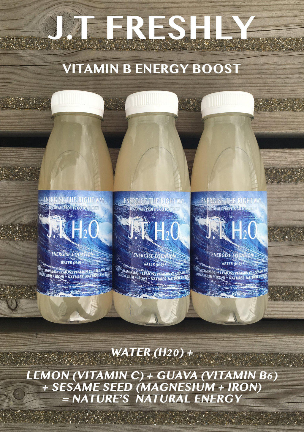 VITAMIN B ENERGY BOOST - LEMON, GUAVA AND GROUND SESAME SEED ENERGY WATER PROGRAMME-J.T Freshly