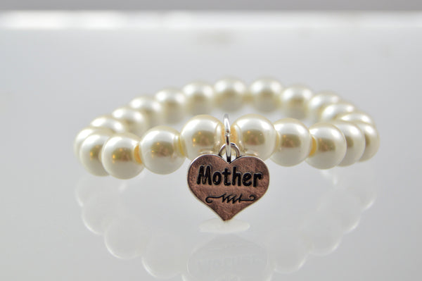 Ivory Pearl Mother's Bracelet - Flying Bird Jewelry
