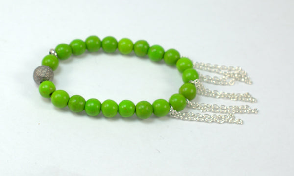 Green Parakeet - The Fringe Collection - Flying Bird Jewelry