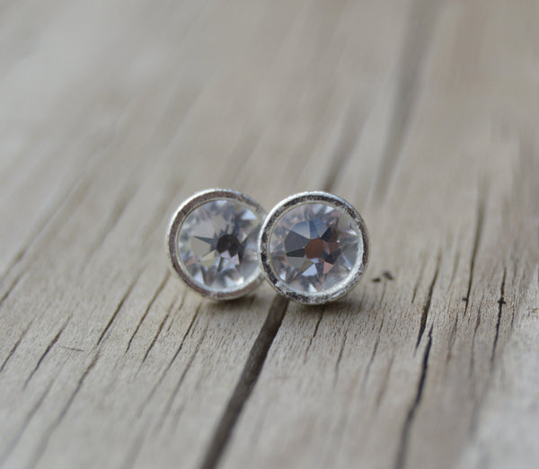 Swarovski Earrings, Swarovski Stud Earrings, Crystal Earrings, Bridal Earrings, Bridesmaid Earrings, Bridesmaid Gift, Wedding Earrings - Flying Bird Jewelry