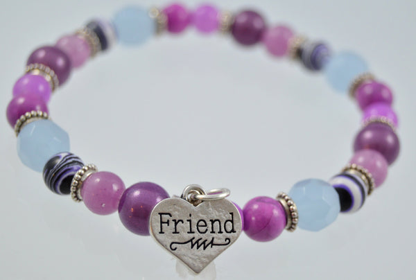 Friend Gift, Friendship Bracelet, Beaded Bracelet, Gemstone Bracelet, Friend Jewelry, Friend Bracelet, Gift for Friend, Women's Bracelet - Flying Bird Jewelry
