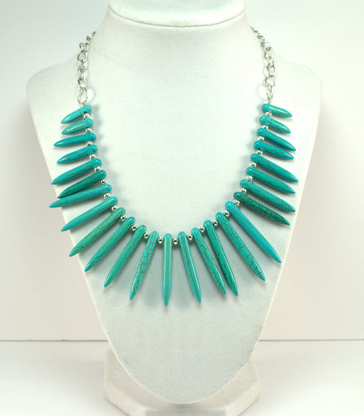 Turquoise Statement Necklace - Flying Bird Jewelry