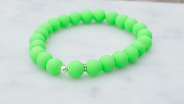Neon Beaded Bracelet - Flying Bird Jewelry