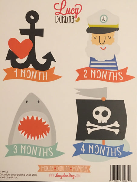 Little Sea Captain Stickers (1-12 months)