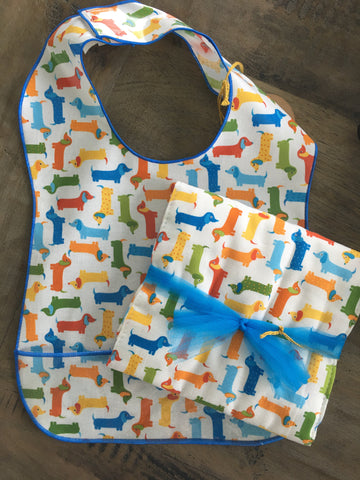 Weenie Dogs Burp Cloth