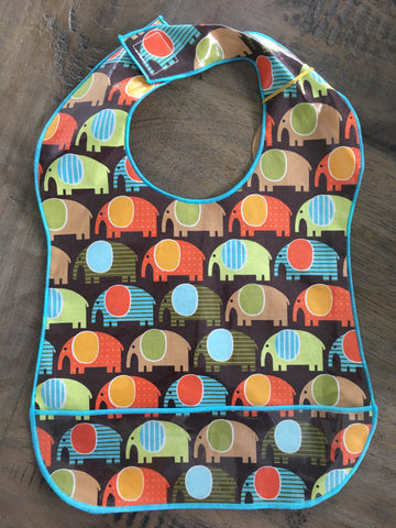 Retro Elephants (Multi-Colored) Bib
