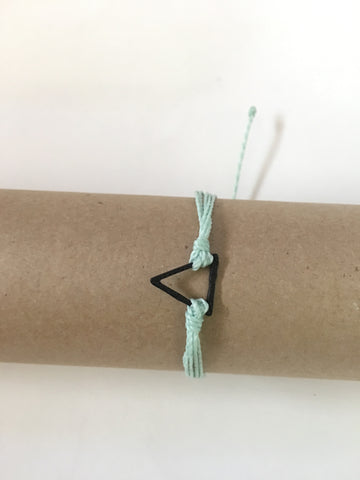 Seafoam Bracelet, Black Triangle