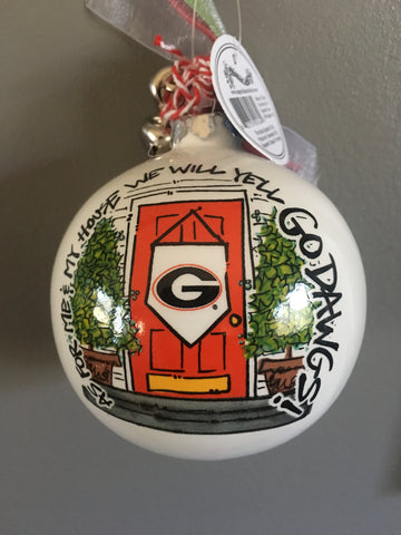 Georgia BULLDOGS Christmas Ornament