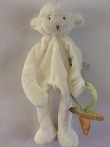 Pacifier Holder/Stuffed Animal (Kiddo Lamb)