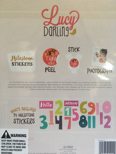 Little Miss Number Cruncher Stickers (1-12 months)