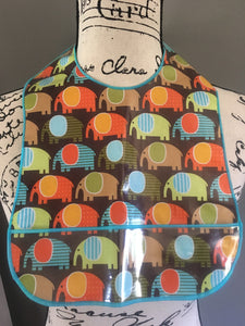 Elephants (Multi-Colored) Bib