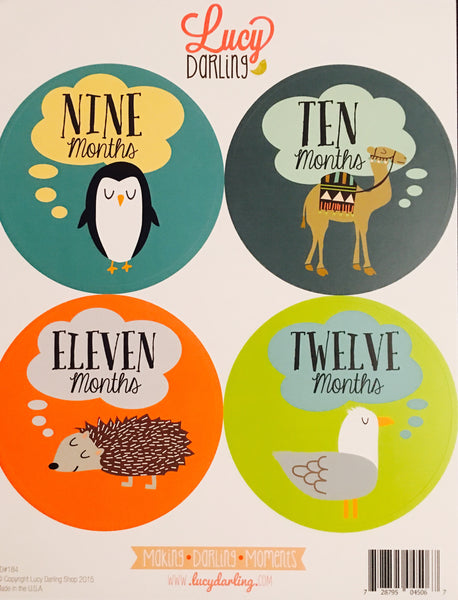 Animal Lover Stickers (1-12 months)