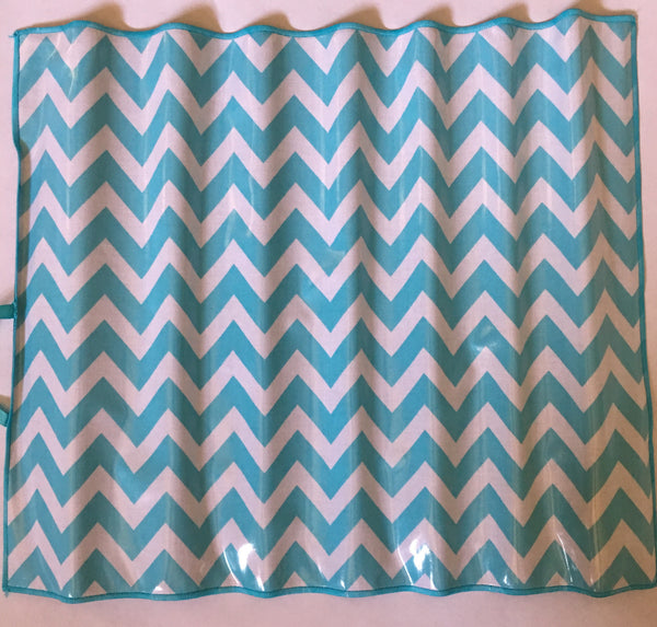 Chevron Aqua Chalk Mat