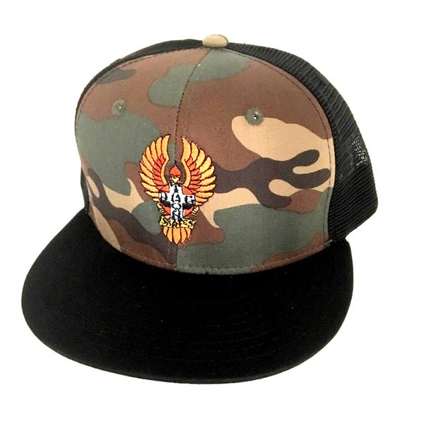 Dogtown Skates Embroidered Bigfoot Mesh Snapback - Camo