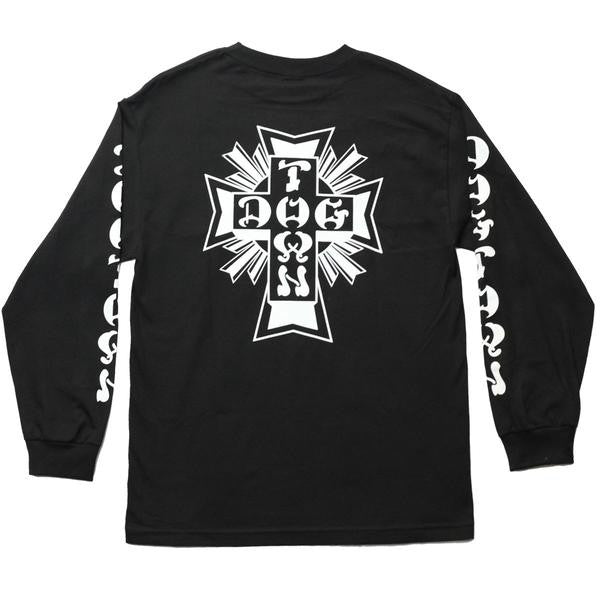 Dogtown Cross Logo Long Sleeve T-Shirt - Black